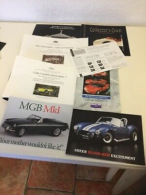 Collection Of Model Car Catalogues And Paperwork • 9£