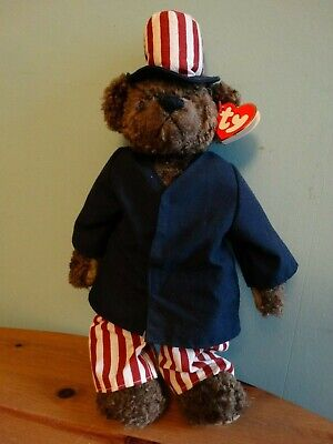 Ty Attic Treasure Bear Samuel Jointed Arms & Legs I Want You NWT 14  New • 3£