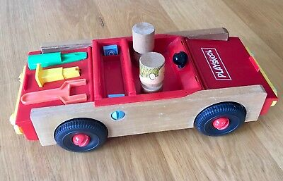 Rare Vintage 1970 S  Playskool  Learning Construction Car • 18£