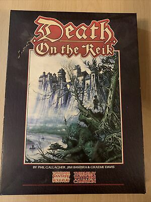 Vintage Warhammer Fantasy Roleplay (WFRP) - Death On The Reik Boxed Supplement • 59.95£