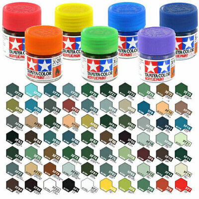 Tamiya Acrylic Mini Paint X & XF Colours 10ml - Full Range • 1.85£