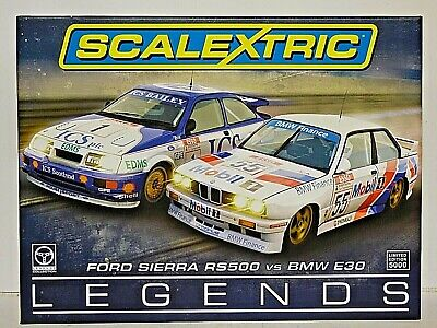 Limited Edition Scalextric Ford Sierra RS500 Vs BMW E30 Legends • 50.99£