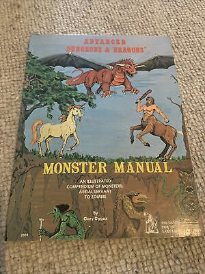 AD&D 1st Edition - MONSTER MANUAL - Advanced Dungeons & Dragons Good Condition • 9.10£