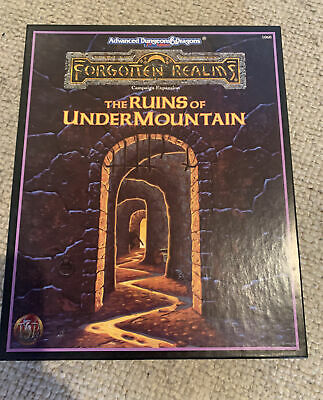 AD&D TSR 1060 The Ruins Of Undermountain 1991 Boxed Complete Excellent Condition • 19.80£