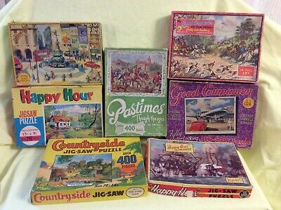 An Interesting Collection Of SEVEN Vintage And Assorted (boxed) JIG-SAW PUZZLES  • 10£
