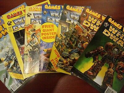 White Dwarf Bundle Lot Of 8 Issues 126, 129, 133, 157, 158, 159, 178 And 182 • 8£