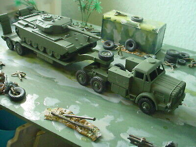 Dinky Military Army Antar Tank Transporter And Tank • 35£