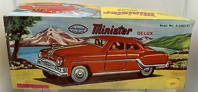 Minister Deluxe 50s Car Red Tinplate Mechanical & Automatic . Model Mint • 9.95£