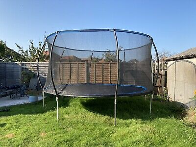 14ft Rebo Base Jump Trampoline With Halo Enclosure II • 120£
