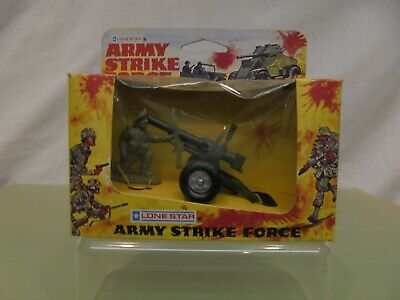 Lone Star- ARMY STRIKE FORCE - ANTI-TANK GUN & FIGURE No.1521 - MINT In EXC. BOX • 15.99£