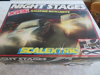Scalextric Classic Night Stages Escort Box Set Also.extra Track. • 10£
