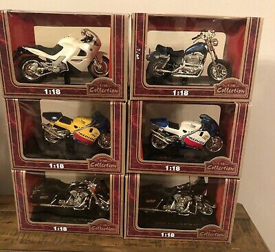 24 Assorted Motorbike Collection 1:18 Die-Cast Motorcycle Model Designs May Vary • 49.95£