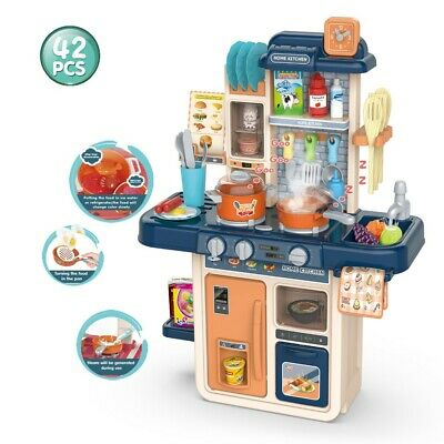Role Play Kids Kitchen Playset  Real Cooking Water Boiling Sounds Baby Toys • 28.99£
