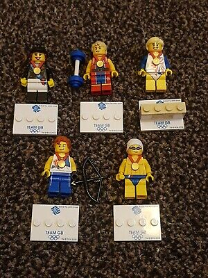 Lego Minifigures Figures Olympic Series GENUINE CHRISTMAS X 5 Team GB • 9.60£