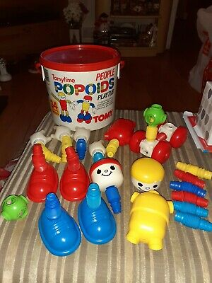 Vintage Tomytime People Popoids Playtub With 34 Pieces  • 30£