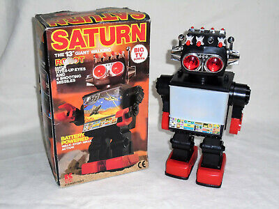 Saturn : 13  Giant Vintage Electronic Walking Robot - Rare Boxed In Vgc • 79.95£