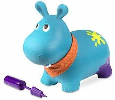 B Toys Hanky The Hippo Inflatable Ride On Bouncer Bouncy Boing BPA Free Soft Ri • 22.78£