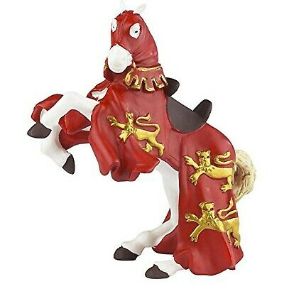 Papo 39340 Red King Richard Horse THE MEDIEVAL ERA Figurine, Multicolour • 21.85£