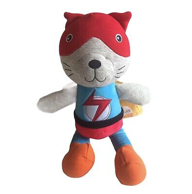 "Superhero Cat Soft Toy Stuffed Animal Cape Flash Cuddly Toy 13"" • 7.99£"