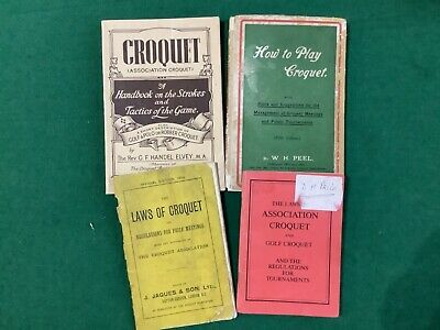 4 CROQUET BOOKS - How To Play Croquet, Laws Of Croquet, Croquet And The Laws Of  • 19.99£
