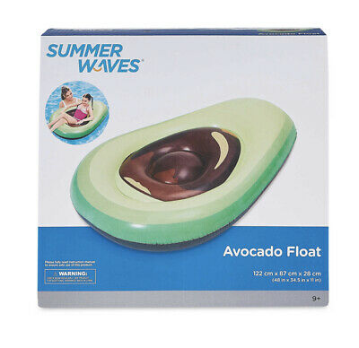 Inflatable Avocado Fruit Swimming Pool Play Float Raft Summer Holiday Toy Aid • 12.99£