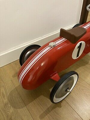 Kids Ride On Vintage Car, Made From Metal, Red • 30£