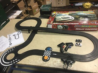 Micro Scalextric 1:64 Scale Rally Racers Set Complete Boxed Good Condition • 25£