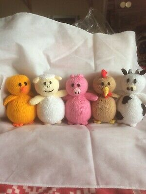 Hand Knitted Toy 5 Piece Play Set • 7£