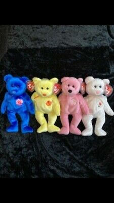 TY Bears - Asia And Pacific Flower Set (4 Of 6).  New W/tags.  P&P Included. • 20£