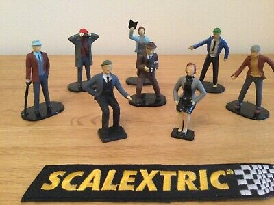 SCALEXTRIC 1960's VINTAGE FIGURES 8 X TRACKSIDE SPECTATORS  - WELL PAINTED F302 • 14.95£