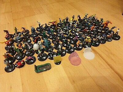 Heroclix Bundle Bulk Collection DC Marvel Etc Job Lot Hero Clix Figures About 78 • 31.99£