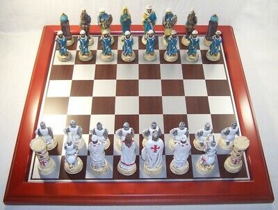 Game Chess & Draughts Set With Full / Complete Theme Of Crusades • 160.44£