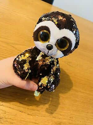 Ty Beanie Flippables 36668 Dangler The Brown Sloth Sequin Flippable Regular • 7.50£