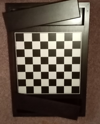 Quality Wood Chess Board 13  Square Plus Sides With Lids.   • 24£