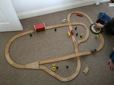 Brio Compatible Wooden Train Track, Shed, Bridge And Tunnel Used. • 45£