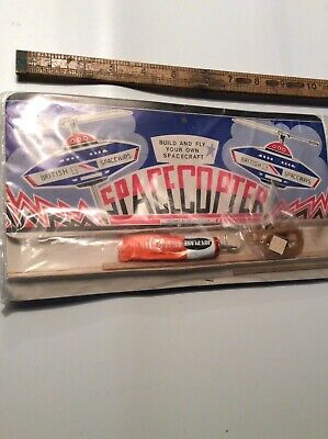 Vintage Space Toy 50s Unopened Flying Saucer • 4.80£