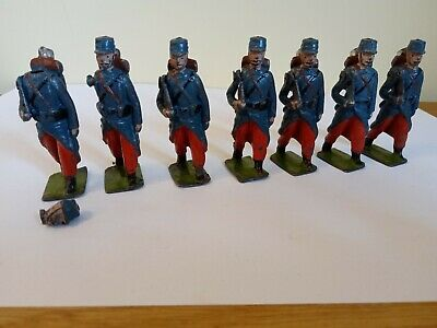 Vintage Britains Wwi French Infantry Hollow Cast Lead Soldiers • 15£