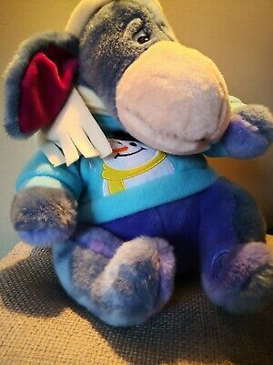 EEYORE Christmas Jumper Disney Store Soft Toy Plush Excellent Cond. 12  For XMAS • 18.99£