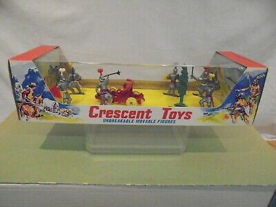Crescent Toys-3000 SERIES  MOVABLE  MEDIEVAL KNIGHTS & CATAPULT No.3007 . M.I.B  • 49.99£
