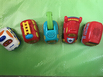 Vetch Toot Toot Vehicle Bundle Racing Car Bus Fire Engine Toe Truck Police Car • 3£