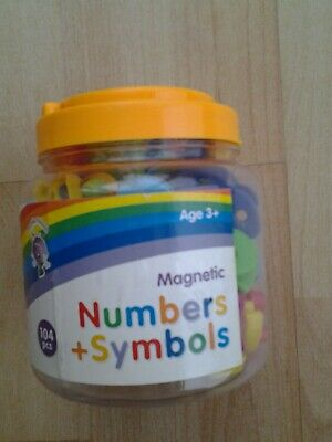 Purple Peach Magnetic Numbers And Symbols  Very Good Condition • 3.99£