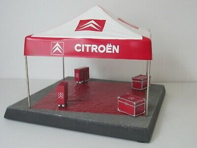 CITROEN RALLY SERVICE ASSISTANCE TENT, 1:43 Scale, BASE & TOOL CHESTS DIORAMA • 29.90£