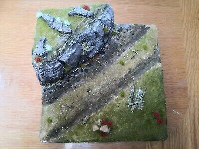 1/35th 1/48th Built Landscape And Rock Track Diorama.Very Detailed(Only Diorama) • 27£