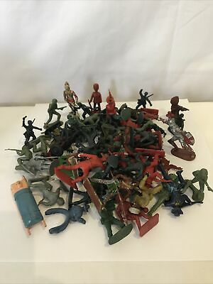 Plastic Toy Soldiers Mixed Lot Bunde ( 4 ) • 6.99£