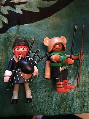 Playmobil 70369 Archer Pagan , Highlander Bagpipes Scottish 2 X Figures • 9.99£