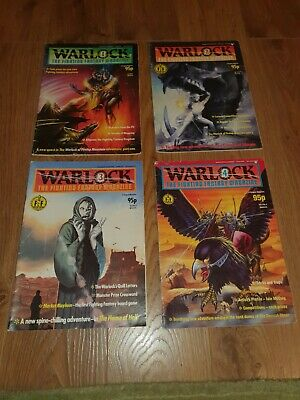 Vintage WARLOCK - THE FIGHTING FANTASY MAGAZINES VOL. 1 Editions 1, 2,3,4.  • 79.99£
