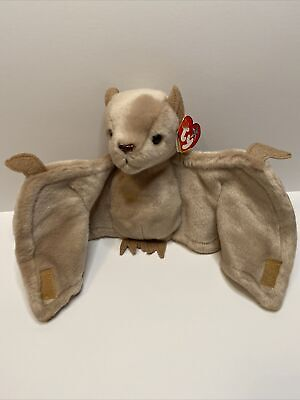 TY Beanie Buddies Collection -  Batty The Light Brown Bat 🦇 | 2000 • 49.99£