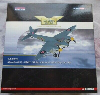 Dh Mosquito - Corgi Aviation Archive Aa32818 - Banff Strike Wing- Missiles -1/72 • 79.99£