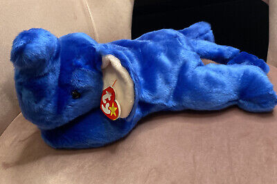 TY Beanie Buddies Collection - Peanut The Royal Blue Elephant | 1998 | RARE • 49.99£