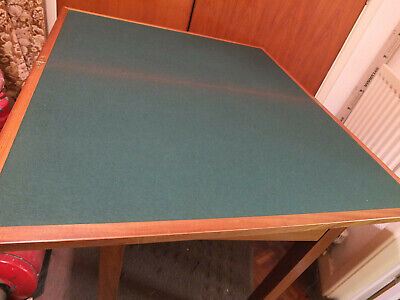 Bridge/card Table. Solid Wood And Heavy. Made Oct.1977, Air Ministry, Staverton. • 90£